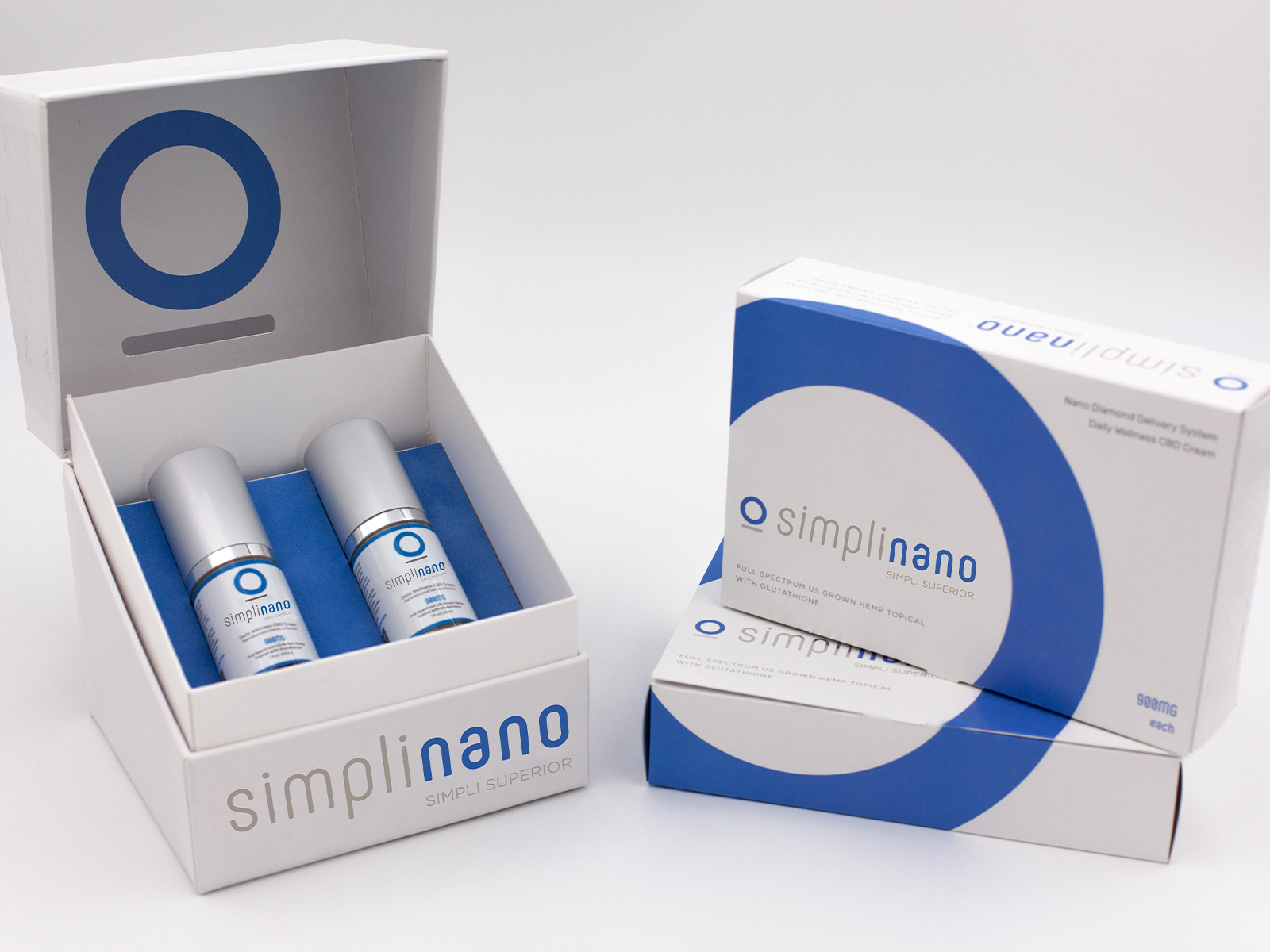 SimpliNano Tiered Packaging w Product